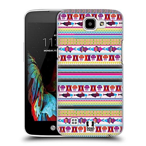 Head Case Designs Azteco Stampe E Pattern Di Pesci Cover Retro Rigida per LG (Aztec Pesce)