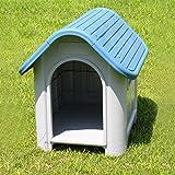 [neu.holz] Hundehütte Kunststoff Hundehaus - Hundebox Hunde Haus Hütte Box