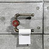 2Couche industriel Urban rétro Tube fer support mural Porte rouleau de papier toilette