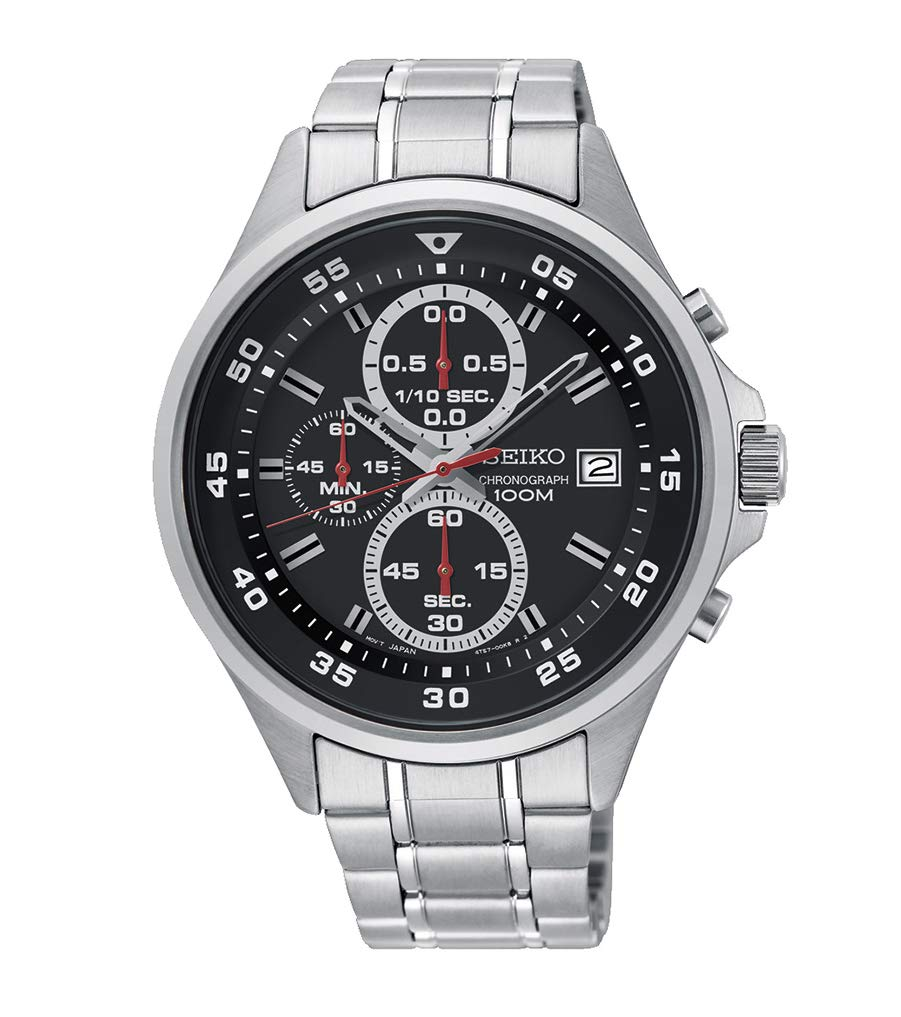 Seiko Mens Chronograph Quartz Watch with Stainless Steel Strap SKS627P1