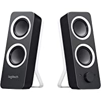 Logitech Z200 Altoparlanti per PC, Audio Stereo Completo, 10 Watt, 2 Ingressi Audio 3.5 mm, Jack ‎per Cuffie, Bassi…