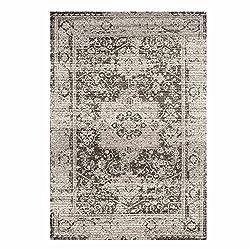 Teppich Flachflor Vintage-Teppich mit Orientalischen Muster Grau Mink für Wohnzimmer Größe 200/290 cm
