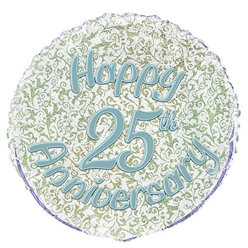 s 45,7 cm Folie Prism Happy 25th Anniversary Ballon ()