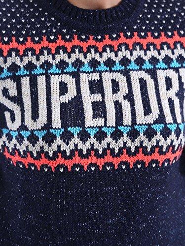 Superdry G61023KN Maglione Donna Blu