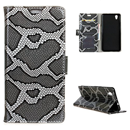 ZTE V7 Max Case,Series Shell Premium PU Leather Wallet Case Shell with Kickstand and Credit Card Slot Cash Holder Flip Cover for ZTE V7 Max Silver