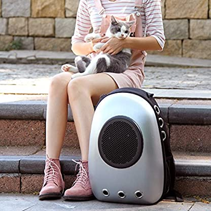Dulcii Pet Carrier,Cat Dog Puppy Travel Hiking Camping Pet Carrier Backpack, Space Capsule Bubble Design,Waterproof Soft… 5