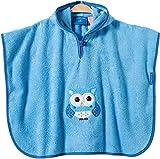 Produkt-Bild: Morgenstern, Frottee - Badeponcho aus 100 % Baumwolle, Farbe blau, Motiv Krokodil, Größe one size (ca. 1 bis 3 Jahre)
