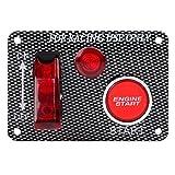 Leaning Tech LTC® 12V Flip Up LED di accensione Pannello Interruttore A Levetta del cambio, con tasto home e indicatore per Racing Sport Auto rossa pulsante