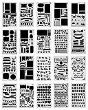 ZEICHNEN Planer Zubehör, sensona 20PCS Tagebuch Schablonen Set Kunststoff Vorlage DIY Zeichnen Planer Zubehör für Diary Scrapbook Craft Notebook