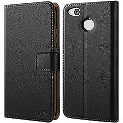 HOOMIL Coque Redmi 4X, Housse en Cuir Premium Flip Case Portefeuille Etui Coque pour Xiaomi Redmi 4X(H3192, Noir)