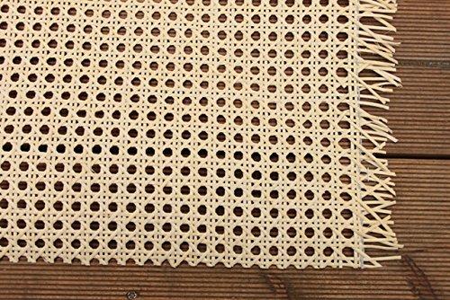 1 lfd. Mtr. Stuhlgeflecht, Heizkörperverkleidung, Wiener Geflecht, Wabengeflecht aus Stuhlflechtrohr, Flechtrohrgewebe, Breite 45 cm