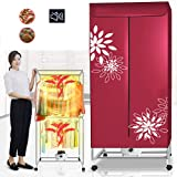 Electric Clothes Dryer Electric Dryer Indoor Warm Air Dryer Clothes Drying Rack Stainless Steel Material 180 Minutes Timing F