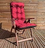 Sitzpolster Polsterauflage Hochlehner Bankauflage Stuhlauflage Sitzkissen TP1 Bordeaux