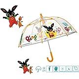 PERLETTI Manuale Bing 42Cm Ombrelli da Bambino (Personaggi), Multicolore, 8015831755045