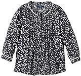 TOM TAILOR Kids Mädchen Bluse lovely blouse heart/411, Einfarbig, Gr. 134 (Herstellergröße: 128/134), Blau (autumn blue 6637)