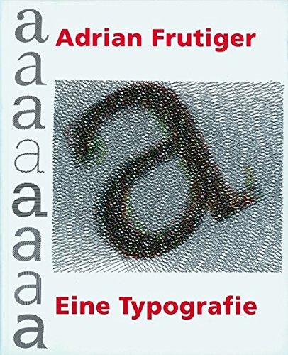 Eine Typografie Buch-Cover