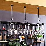 Botelleros Wine Cup Holder Suspension Decoración Retro Wine Racks Bar Portavasos Wine Cup Holder Marco de cáliz Techo botelleros de Vino (Color : C)