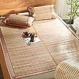 WENZHE Bambus Matratzen Sommer-Schlafmatten Strohmatte Teppiche Beidseitig Falten Glatt Keine Störung, 2 Arten, 5 Größen (Farbe : 2#, größe : 1.35×1.95m)