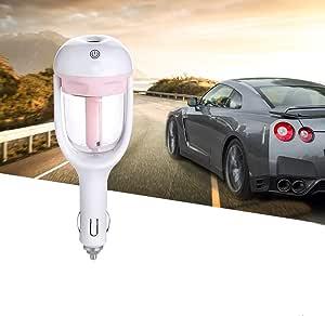 Sammiu Auto Luftbefeuchter Lufterfrischer Luftreiniger Aromatherapie Ätherisches Öl Diffusor Rosa Auto