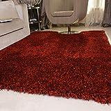 SESO UK-CAR Nordic Modernen Teppich Weichen Bequemen Rutschfeste Große Polyester Teppich für Schlafzimmer Wohnzimmer Haushalt Dekoration Dicke-6 cm (Farbe : Black and Red, Größe : 200x300cm)