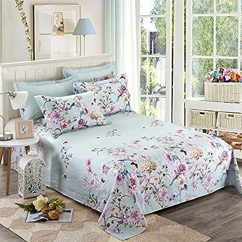 Fogli di cotone con stampa fiore giardino europeo/Singola letto singolo