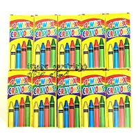 4 Coloured Wax Crayons Kids Party Bag Fillers 10 Packs
