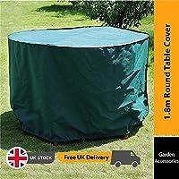 BillyOh impermeable y resistente a los rayos UV Premium PVC redondo de mesa de muebles de jardín cubierta