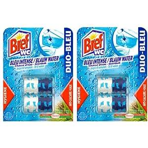 Bref - Nettoyant WC - Duo Bleu - Blocs 2 x 50 g - Lot de 2