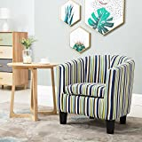 Leisure Zone ® Leather Tub Chair Armchair Striped Sofa Dining Living Room Seating Office Reception (Multi-color)