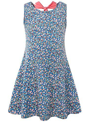 BONNY BILLY Mädchen Kleid Rücken Bogen Baumwoll Sommer Flared Bekleidung 140 Blau Childrens Place Jeans