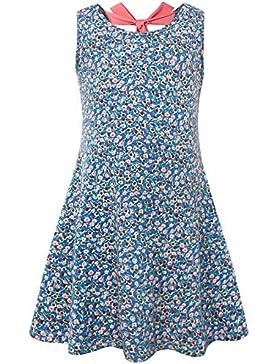 BONNY BILLY Mädchen Kleid Rücken Bogen Baumwoll Sommer Flared Bekleidung