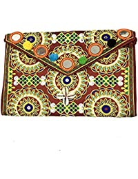 Shubhangi Women's Sling Bag (Jaipuri Embroidered Handicraft Traditional Sling Bags,embroidery Sling Bag,Stylish-Embroidery...