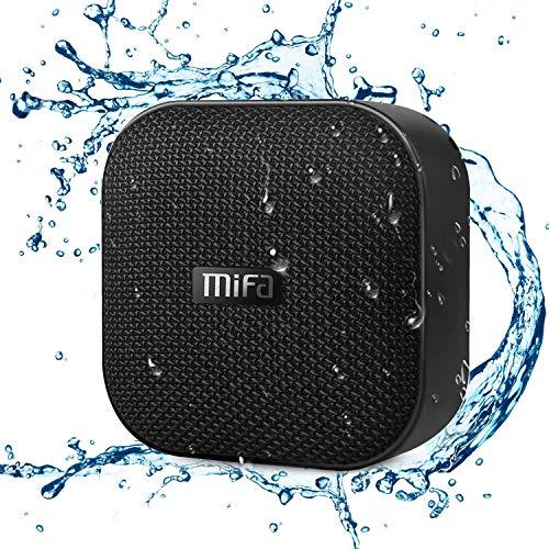 Testsieger Bluetooth Mini Lautsprecher, MIFA A1 Bluetooth 4.2 Soundbox TWS & DSP IP56 Wasserfest und Staubdicht Speaker, Unterstützt SD-Karte bis zu 32GB Kompatibel mit Huawei iPhone iPad Samsung