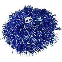 Ayozen - 1 par de pompones para animadoras (mangos con agujeros, 0,02 kg cada uno), 6 colores disponibles azul azul