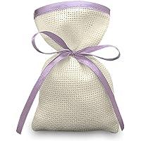 Crociedelizie, Stock 70 sacchetti bomboniere portaconfetti segnaposto in tela aida ecrù rifinitura in raso da ricamare a…