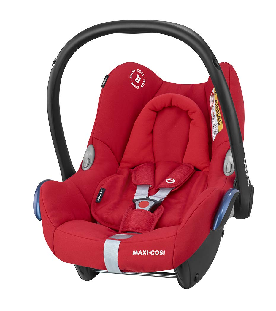 Maxi-Cosi CabrioFix Baby Car Seat Group 0+, ISOFIX, 0-12 Months, 0-13 kg, Nomad Red with Easyfix Car Seat Base, ISOFIX or Belted Installation for CabrioFix, 0-12 m, 0-13 kg Maxi-Cosi Optimal side impact protection: maxi-cost's side protection system technology features in the wings of the car seat to reduce the risk of injury in a side impact collision Click-and-go installation: quick and easy installation with any maxi-cosi base unit Used in combination with the Maxi-Cosi CabrioFix infant car seat 2