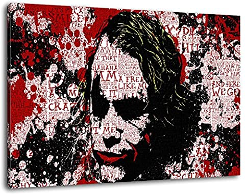 Batman peinture de format sur toile 120x80 cm, XXL énormes images complètement encadrée avec civière, le cadre photo feuille de
