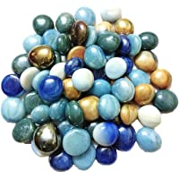 OhhSome Multicolour Round Shaded Marbles Aquarium Pebbles for Vase Fillers_Glass Gems Stone_Table…