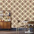 Super Fresco Wallpaper Trippy Choc/Orange 15195�Easy to Install