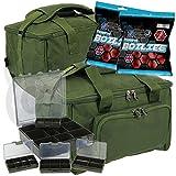 Karpfenangeln Medium Angeltasche Tackle oder Köder Tasche und 4+ 1Aufbewahrung Bit Boxen gratis...