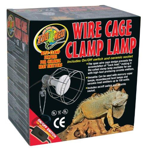 Zoo Med LF-10ec Wire Cage Klemmlampe mit Schutzgitter für Terrarien, max 150W