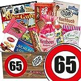 65. Geburtstag Geschenk - Süssigkeiten Box mit DDR Waren + Geschenkverpackung