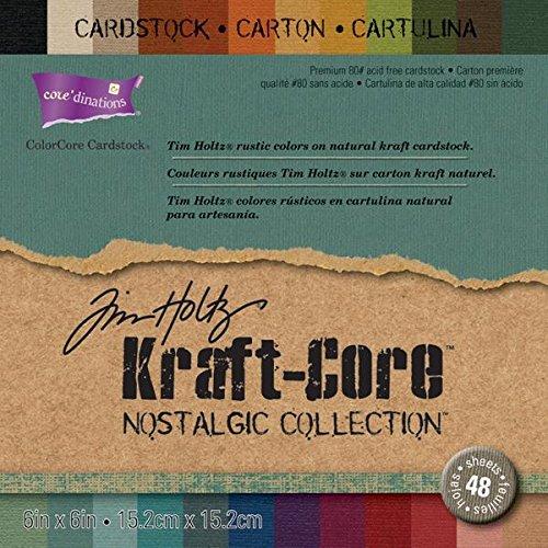 coredinations-kraft-core-by-tim-holtz-6x6-48-sheets-nostalgic