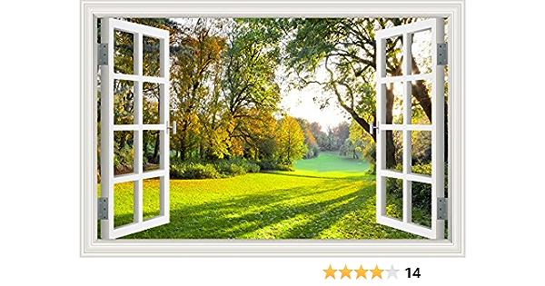 Wall Vinyl Eye Tree Forest Landscape For Bedroom Mural Vinyl Decal z3378