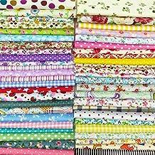 12x 12pulgadas (30CMX30CM) algodón Craft Tela cuadrados Patchwork pelusas DIY de costura para álbumes de recortes acolchado de lunares Artcraft, multicolor, 25pcs