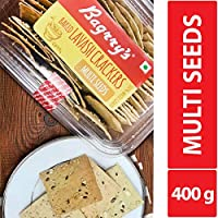 Baked Lavash Crackers Multi Seeds 200g (Pack of 2)