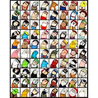 Puzzle House Crooked Head Comic Emoji, Wooden Jigsaw Puzzle, Cartoon Expression Pack, Perfect Cut & Fit, 500/1000 Pieces Boxed Photography Toys Game Art Painting For Adults & Kids 509