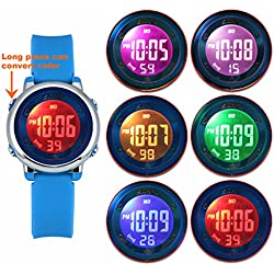 Zeiger Kids Digital Watches Sports Watch for Girls Boys Lovely Student Watch with waterproof watch band (Blue)