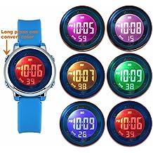 Reloj LED Multicolor Zeiger Digital chica, infantil y joven, de pulsera, correa de suave silicona, trendy regalo