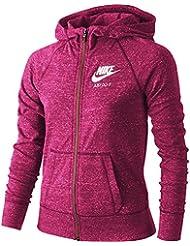 Nike Gym Vintage FZ Hoodie YTH - Sudadera para niña, color rosa, talla L